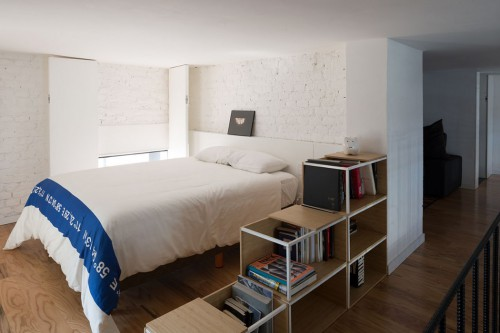 Open loft slaapkamer in vide