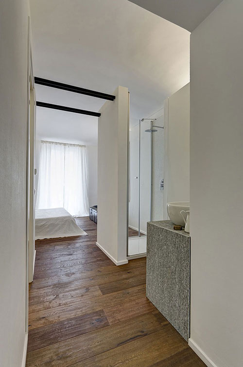 Open slaapkamer uit italiaanse turijn slaapkamer idee n - Slaapkamer met badkamer en dressing ...