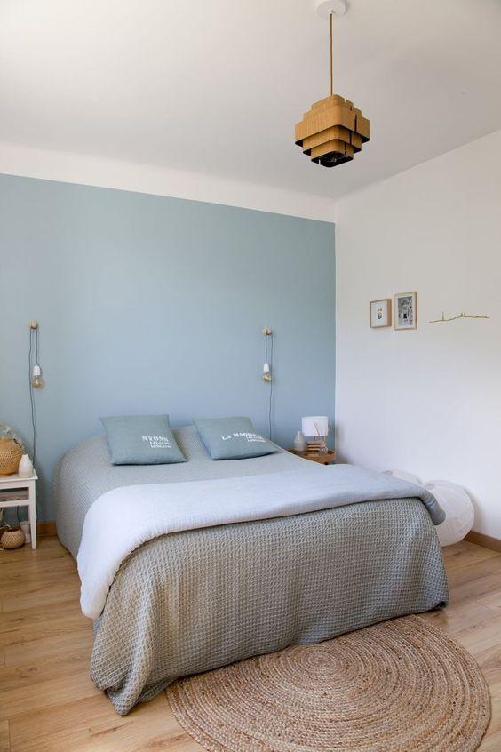 pastel groene muur slaapkamer