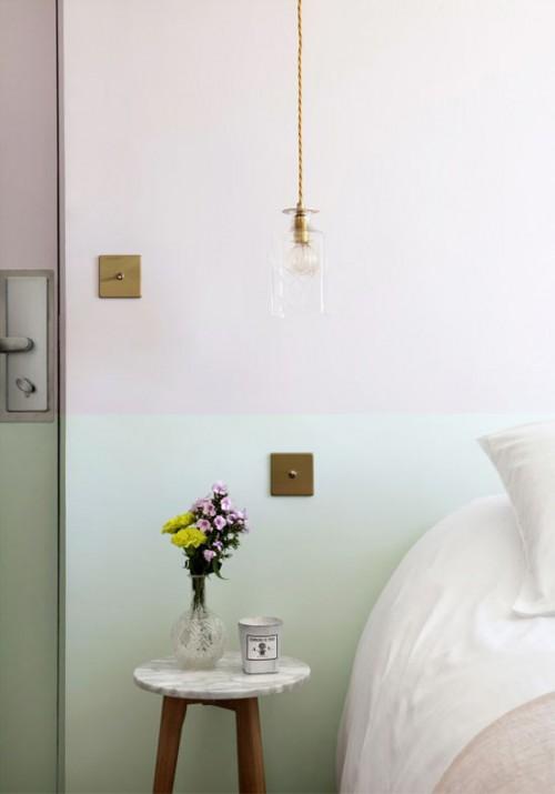 Pastelkleuren in slaapkamers van boetiekhotel in Parijs  Slaapkamer ...
