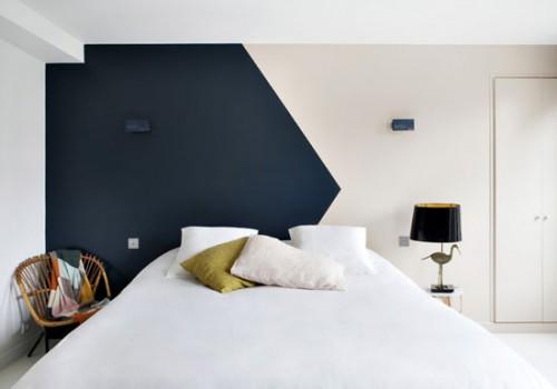 Slaapkamer Met Pastelkleuren : Pastelkleuren in slaapkamers van boetiekhotel in parijs
