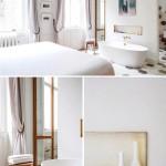 Romantische slaapkamer met vrijstaand bad