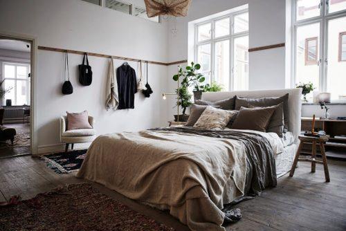 Ruime rustieke slaapkamer uit Göteborg | Slaapkamer ideeën