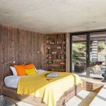 Rustieke slaapkamer met uitzicht