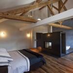 Rustieke slaapkamer van Zwitsers woonboerderij