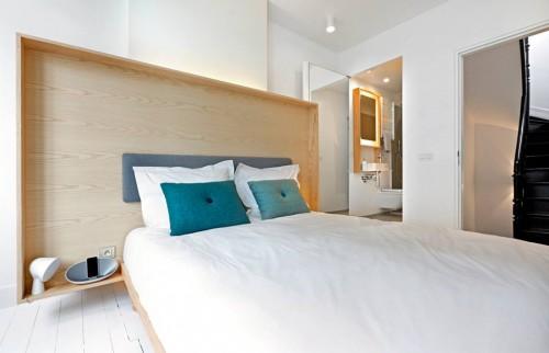 Scandinavisch witte slaapkamer van Happy Guest House  Slaapkamer ...