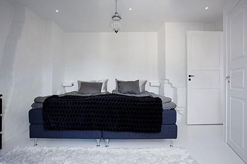 Scandinavisch witte slaapkamer