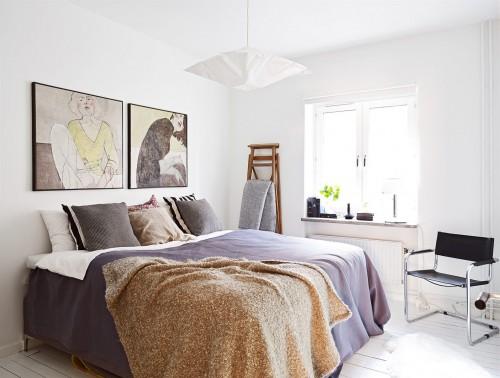 ... . Scandinavische slaapkamer met smalle inbouwkast Slaapkamer ideeën