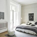 Scandinavische slaapkamer met authentieke details