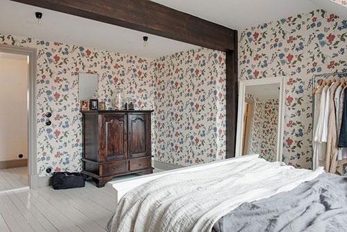 ... kleuren slaapkamer : Scandinavische slaapkamer met dakkapel Slaapkamer