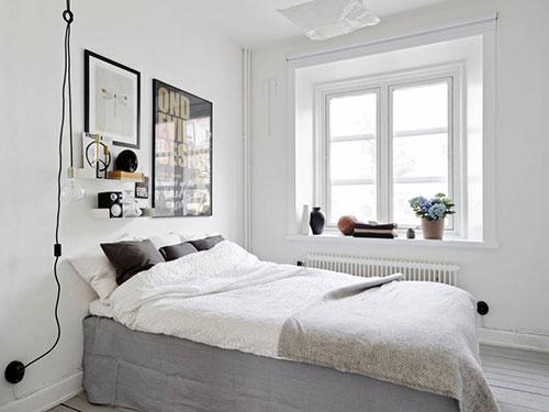 scandinavische slaapkamer met eenvoudige inrichting | slaapkamer, Deco ideeën