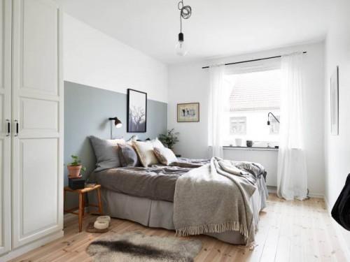Hanglamp Voor Slaapkamer : Scandinavische slaapkamer met hoek ...