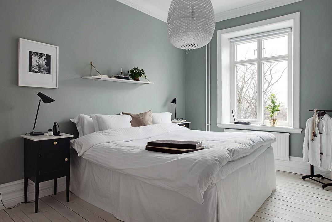 Slaapkamer Groen Grijs : Groen grijze muur