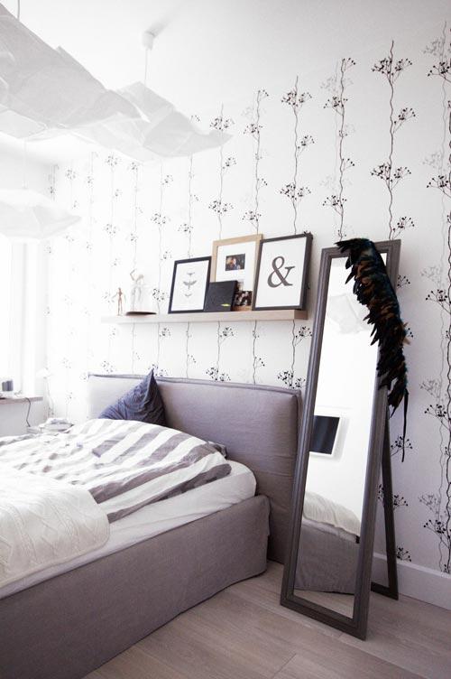 Scandinavische slaapkamer in Polen