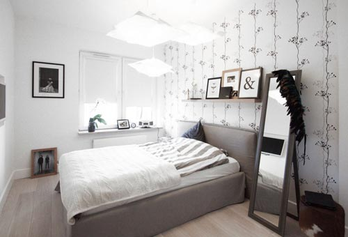 Scandinavische slaapkamer in Polen | Slaapkamer ideeën