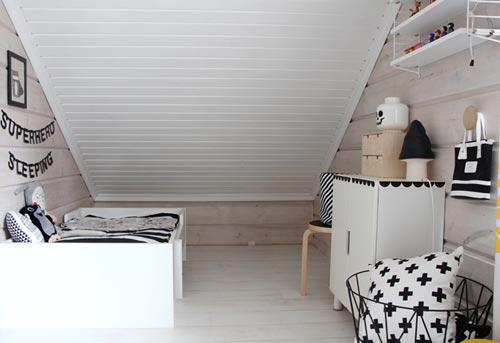 Kinderkamers Op Zolder : Scandinavische zolder kinderkamer slaapkamer ideeën