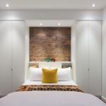 Scheidingsmuur voor een compacte slaapkamer