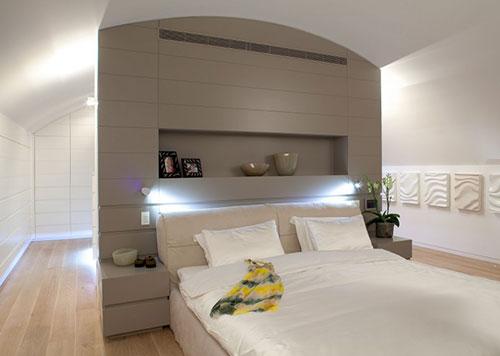 Scheidingswand tussen slaapkamer en inloopkast slaapkamer idee n - Slaapkamer met badkamer en dressing ...