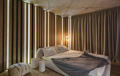 Sfeervolle minimalistische slaapkamer