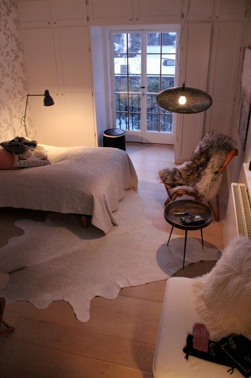 Sfeervolle slaapkamer met herfst thema slaapkamer idee n - Behang patroon voor de slaapkamer ...
