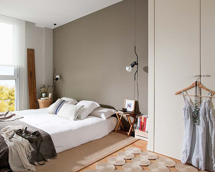 Sfeervolle slaapkamer in een penthouse appartement in Barcelona ...