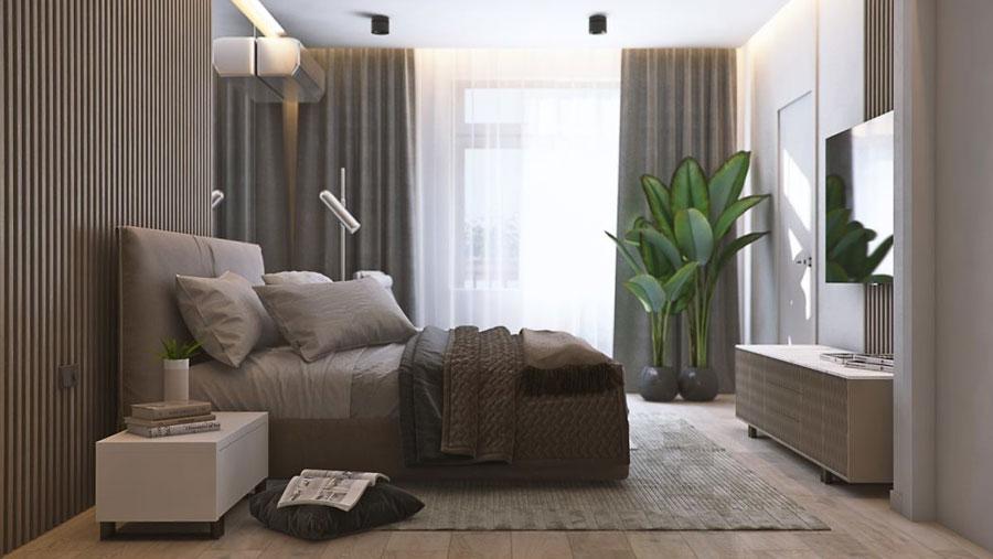 Sfeervolle warme slaapkamer van het Northern Dune project!