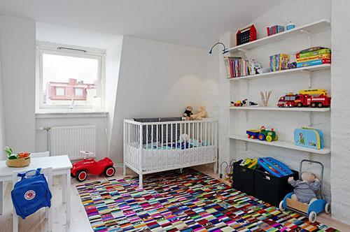 Simpele Scandinavische babykamer