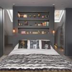 Slaapkamer suite met grijze muren