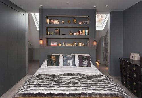 Grijze Slaapkamer Muur : ... slaapkamer ontworpen. Een slaapkamer ...