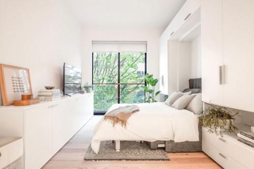 Slaapbank in een éénkamerappartement