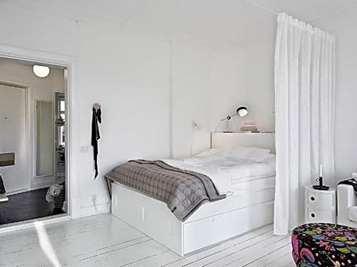 Slaapkamer van 1-kamer appartement | Slaapkamer ideeën