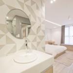 Slaapkamer badkamer ontwerp met L-indeling