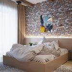 Drie slaapkamers, drie soorten wandafwerkingen