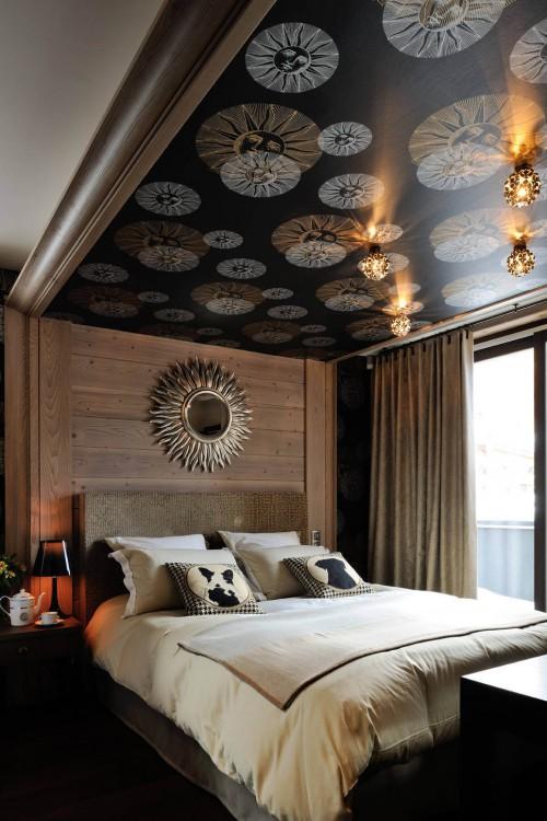 slaapkamer met bijzonder behang | slaapkamer ideeën, Deco ideeën