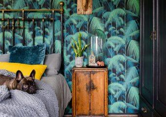 10x Slaapkamer met botanisch behang