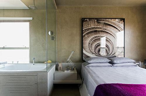 Paarse Slaapkamer Ideeen : Slaapkamer van Braziliaanse loft Slaapkamer ...