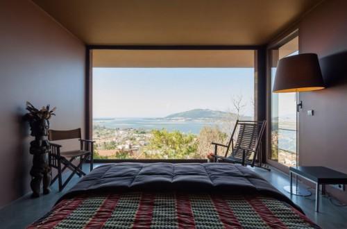 Slaapkamer Ideeen Bruin : Slaapkamer met bruine muren