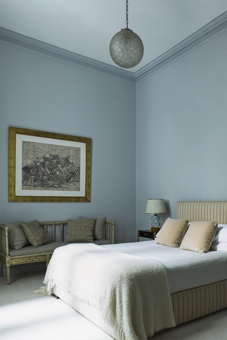 10x Slaapkamer met blauwe muur