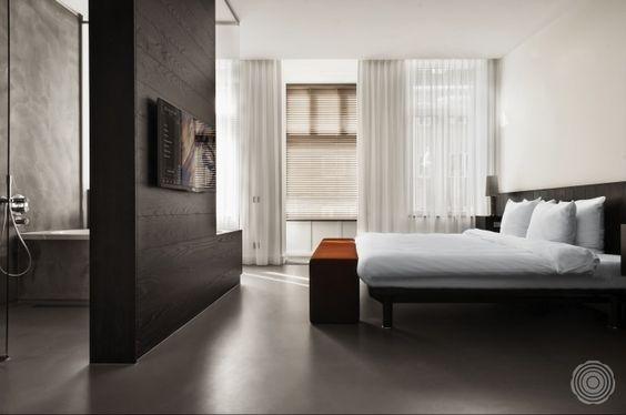Slaapkamer gietvloer inspiratie slaapkamer ideeën