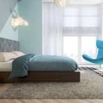 Slaapkamer met grafische patronen