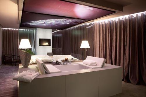 Slaapkamer Bruin Paars : Slaapkamer ideeën van The Vine hotel ...