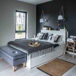 Slaapkamer in Polen met een Scandinavisch tintje