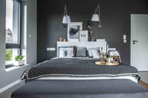 Scandinavisch Slaapkamer : Slaapkamer in Polen met een Scandinavisch ...