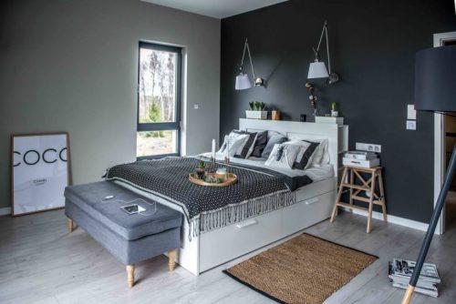 Slaapkamer Ideeen Scandinavisch : Slaapkamer taupe groen olijfgroene muren scandinavische
