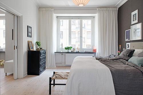 Gordijnen Landelijke Stijl Slaapkamer : Slaapkamer in Scandinavische ...