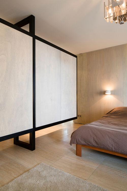 slaapkamer met kledingkast scheidingswand combi
