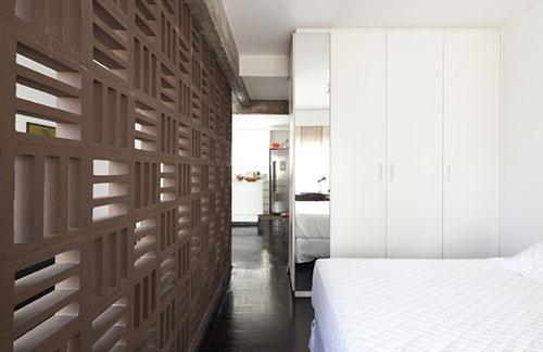 slaapkamer van kleine loft appartement