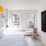 Slaapkamer met kunst inspiratie