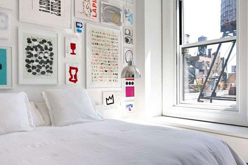 Slaapkamer met kunst inspiratie | Slaapkamer ideeën