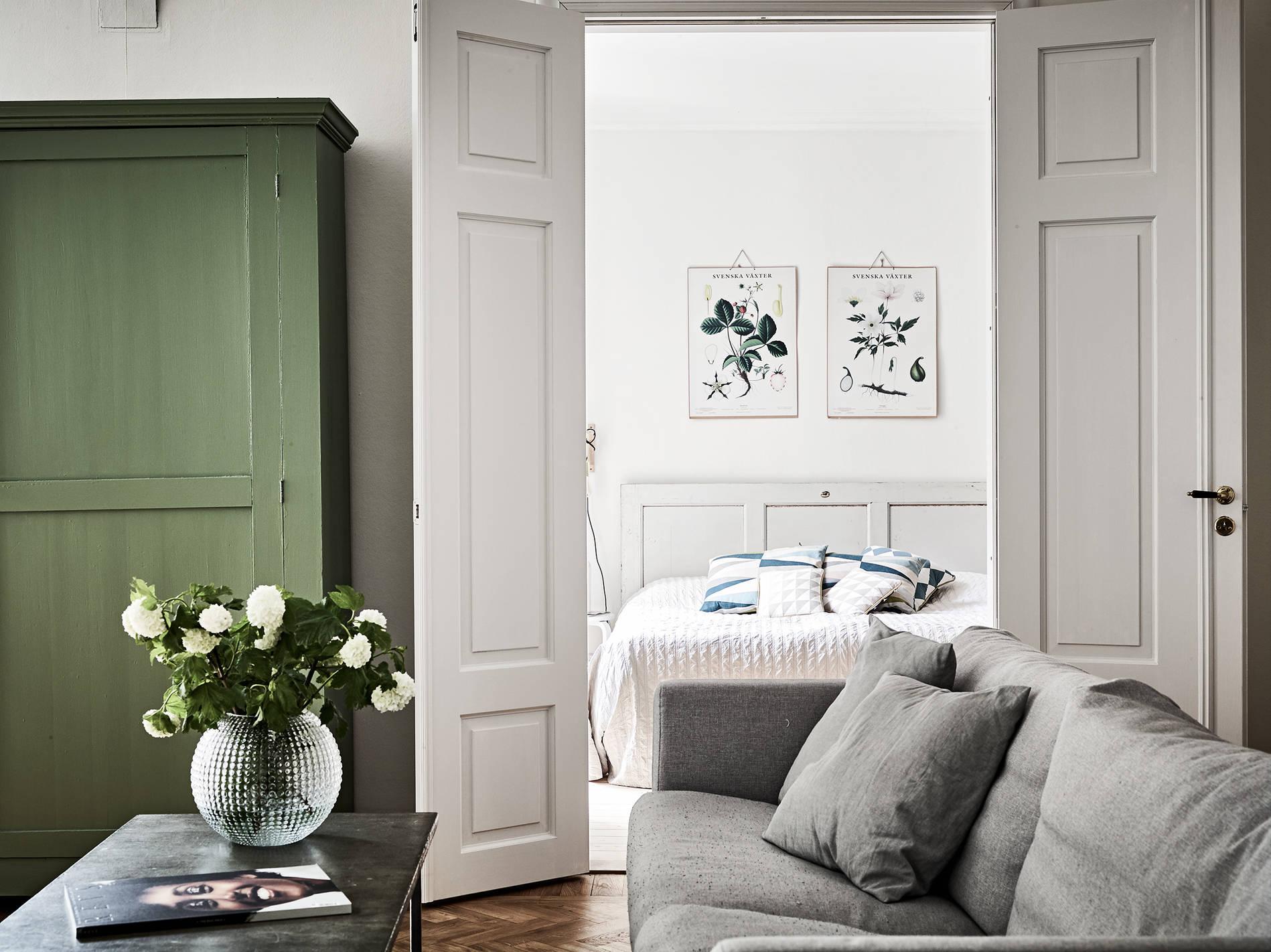 Slaapkamer met landelijk chique sfeer